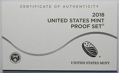 2018-S Clad Proof Set New US Mint Product COA ONLY, NO COINS