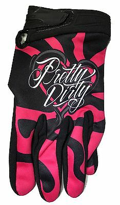Pink And Black Girls Riding Gloves Great for Mountain Biking, BMX, Riding Gloves