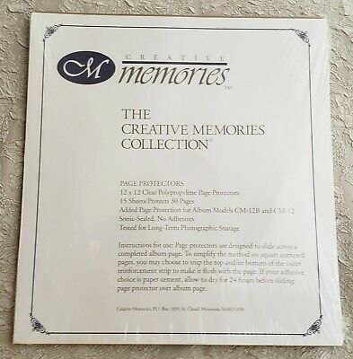 15 Creative Memories Page Protectors 12 x 12 Clear Protects 30 Pages New