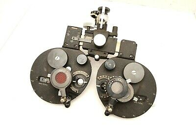 Early Vintage Bausch & Lomb Refractor Phoropter Eye Exam Tools machine Optical