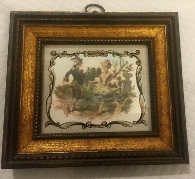 Photogravure Hand Colored Engraving With An Antique Frame Antiques Decorative Arts