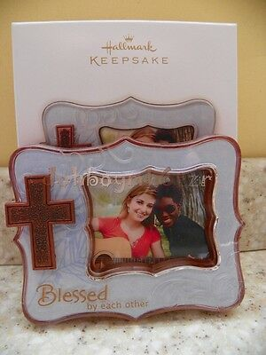 Hallmark Photo Holder Ornament Blessed by Each Other 2012 Cross Friend Family