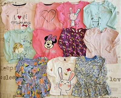Girls Long Sleeved Tops Bundle 9-12 Months Inc Mini Club TU George Etc