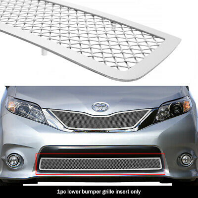 Fits 2011-2017 Toyota Sienna SE honeycomb style Bumper Chrome Mesh grille insert