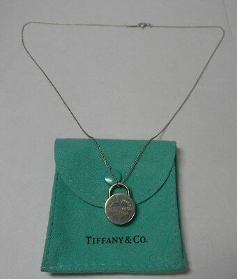 bc349c11dbc00 TIFFANY & CO 5th Avenue Sterling Notes Round Pendant & 19