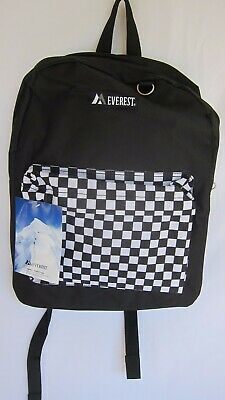 Everest Classic Color Block Backpack B/W Checker/Camouflage-Orange/Blue-Green