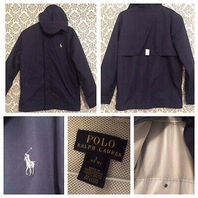 Boys Navy Wind proof Hooded Ralph Lauren JaCket Age 14.15.16 Years Immaculate
