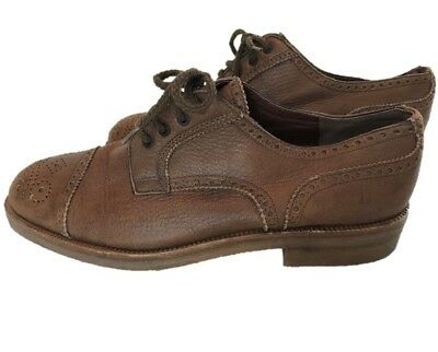 f88fa802788 Lina Lee Beverly Hills Vintage Brown Soft Leather Wing Tips Shoes - Mens 8  1/
