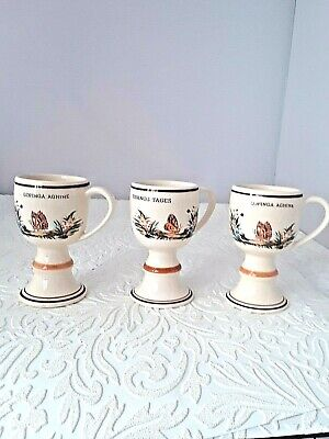 Vintage Zenith Gouda Footed Slim Cups w/ Butterflies Made in Holland 2077