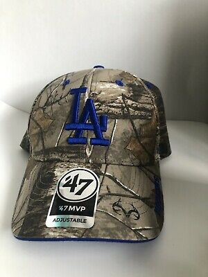 info for e4af2 64dad  47 Brand Los Angeles Dodgers Real Tree Camo Franchise Fitted Hat.
