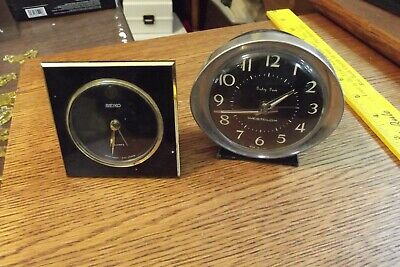 Early Vintage Westclox Baby Ben Alarm Clock and battery power seiko
