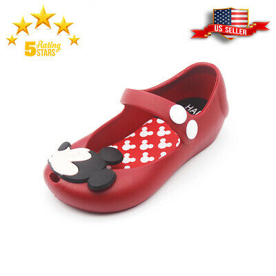 303aa215885 JELLY SHOES CARTOON Mickey Minnie mouse Sandals Kids Toddler mini ...