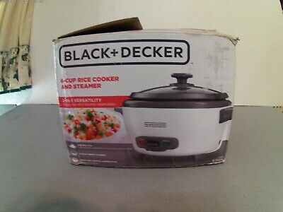 black and decker 6 cup rice cooker and steamer