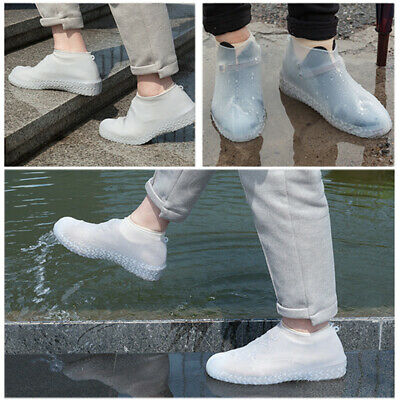 Reusable Shoe Covers Pair of Waterproof Silicone Rain Shoe Protector Overshoes #
