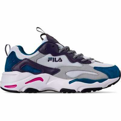 WOMENS FILA RAY Tracer Trainers Vapor Blue Highrise Black F ...
