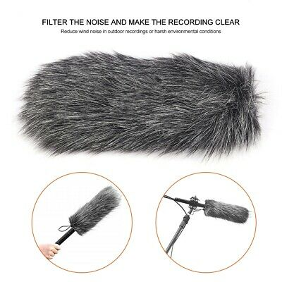 Dusty MIC Microphone Artificial Fur Cover Windscreen Windshield Muff For Rode WN