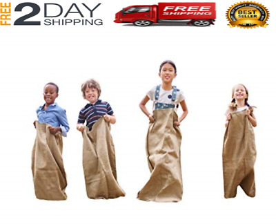 Potato Sack for Race Game for Kids and Adults, Garden, Outdoor Party 6 Pack