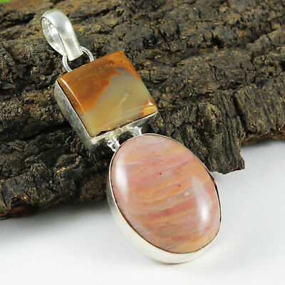 Pink calcite Silver Plated Fine Handmade Pendant JBH-54