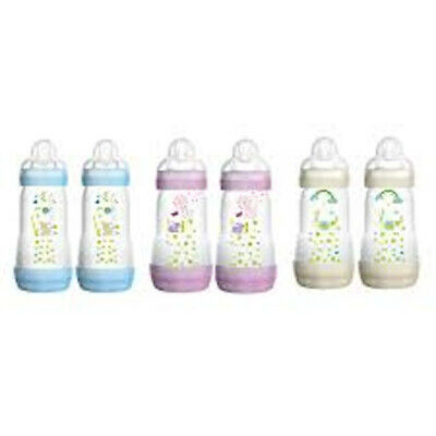 MAM Baby Bottle Set  9 Ounce 2 Pack 2+ Months Anti-Colic BPA Free, NEW