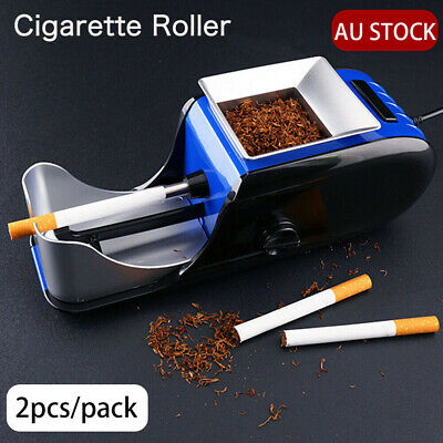 2PCS  Automatic Electric Tobacco Cigarette Roller Rolling Machine Injector Maker