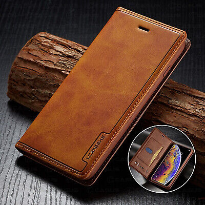 Leather Wallet Magnetic Flip Cover Sim Card Case For iPhone XS MAX XR 8/7/6 Plus