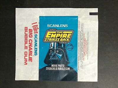 Scanlens Wax Wrapper Star Wars The Empire Strikes Back Movie Photo Stickers