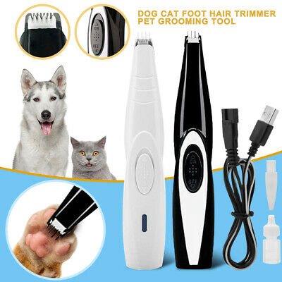 Cordless Rechargeable Pet Cat Dog Electric Hair Trimmer Shaver Foot Hair Clipper