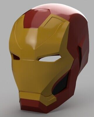 Iron Man Mark 46 Helmet casco elmo avengers Civil War Cosplay stampato 3D