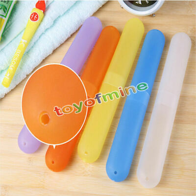 Portable Travel Camping Bathroom Toothbrush Holder Tube Cover Protect Case Box