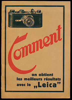 Leica rare 1930  booklet for Leica I in French 12 pages  E774
