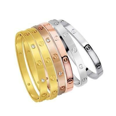 Men Jewelry Buckle Gold Silver Copper Plated Bracelet Love Bangle Carter BE