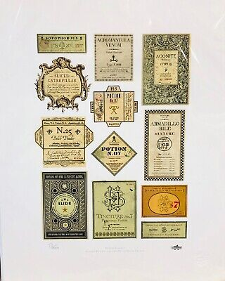 Harry Potter Potion Labels SP M Limited Edition Collection Sheet N0 51/1000