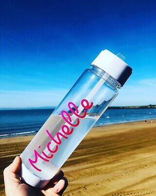 Personalised Water Bottle Island Inspired Fitness Love Gift