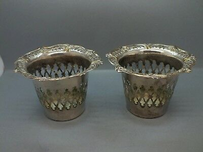 Unusual Pair of Late Victorian Art Nouveau Silver Plated Liqueur Coasters c1895