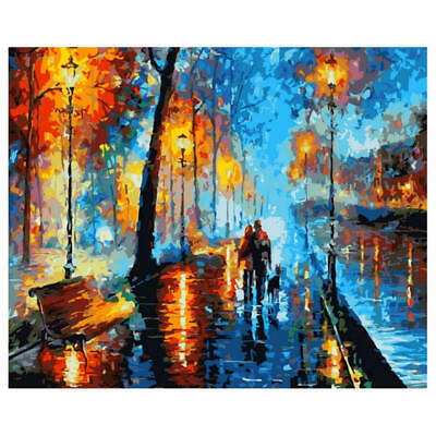 Romantic Pictures DIY Handpainted Oil Painting Landscape by number Home UGP