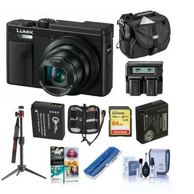 Panasonic Lumix DC-ZS80 Digital Camera, Black With Premium Accessory Bundle