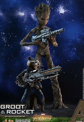 Hot Toys MARVEL'S AVENGERS INFINITY WAR GROOT & ROCKET 1/6 FIGURE MMS476