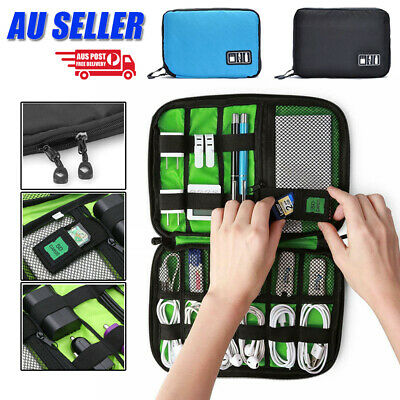 Electronic Accessories Storage USB Cable Organiser Bag Case Drive Travel Digital