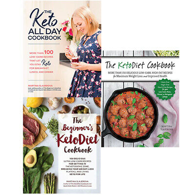 Martina Slajerova 3 Books Collection Set, The Keto All Day Cookbook,Keto Diet