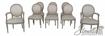 L25634EC: Set of 8 BAKER French Louis XVI Style Upholstered Dining Room Chairs