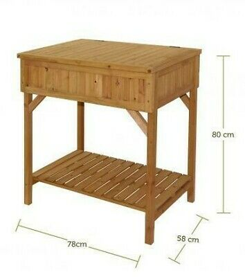 Wooden Table Heavy Duty Trestle Camping Party Picnic BBQ Stall Garden