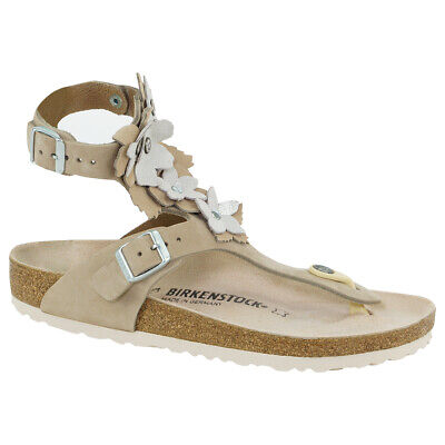 Birkenstock Gizeh High Sandals Natural Leather Nude 39