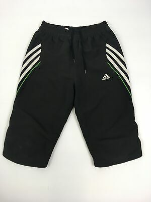 "Girls Adidas Clima365 Black Drawstring Waist Short Tracksuit Trousers 26"" Age 12"