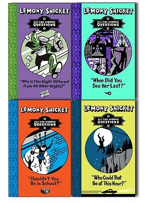 Lemony Snicket All The Wrong Questions 4 Books Collection Pack Set - New