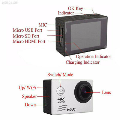 9661 Wifi Recorder DVR DV Outdoor Cam 30m 1080P Ultra HD Sport Action Camera