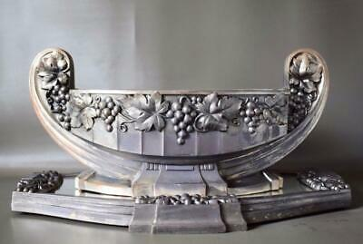 French Art Deco Centerpiece Jardiniere & Mirror Tray Bunch of Grapes