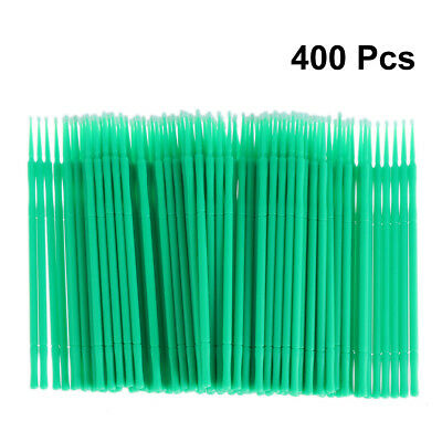 400pcs Disposable Micro Applicator Brushes Eyelash Extension Cotton Swab