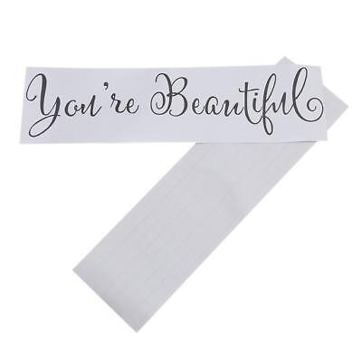 You're Beautiful Mirror Decal Living Room Wall Decal Sticker W