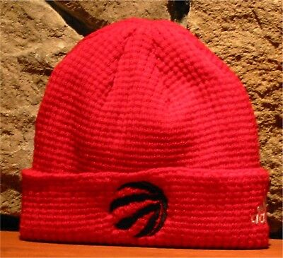 sale retailer 9710b 0b6d3 adidas NBA TORONTO RAPTORS Basketball Cuffed Knit Winter Hat Toque RED  WATCH CAP