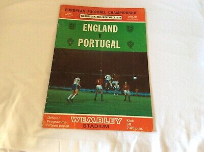England  v Portugal European Championship Qualifier November 1974